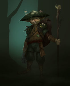 Umber Dungeons and Dragons Gnome