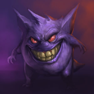 Gengar with a big smile