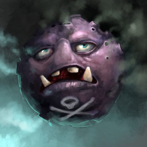 Koffing spewing toxic smoke