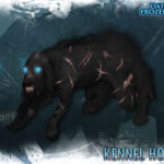 Kennel Hound with snarl and scars